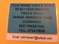 We buy your unwanted tools,best prices paid