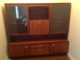 Lounge Display Unit Solid Wood