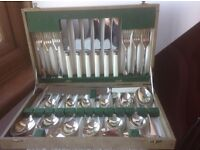 Veribest stainless, 25 Piece Canteen of Cutlery, Sheffield & Faux Bone