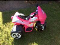 Pink battery quad
