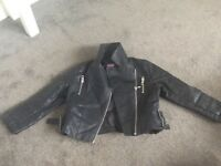 F&F 5-6yrs Faux leather jacket coat