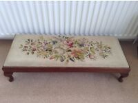 Attractive vintage tapestry top footstool
