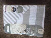 kingsize pale grey complete bed set