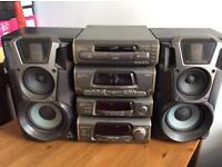 Technics Stereo SL EH600 Hi Fi 160W Radio SEPARATES Vintage CD Player Loud Speakers STUNNING! 2day!