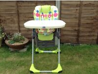 Chicco adjustable highchair