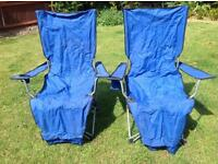 Folding camping chairs x2