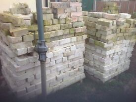 Burwell white bricks about 1300 in total
