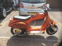 Vespa one of a kind 1986 T5 125 cc but very fast. Reason for sale no time to ride it