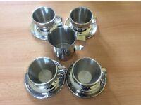 Dualit Cappuccino Cups, Saucers & Milk Jug