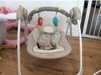 Bright Starts comfort and harmony baby swing