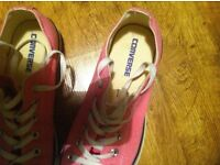 Pink Converse All Stars Low Rise not High Top UK Size 7 (Euro 40) Unisex Trainers