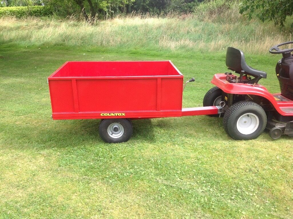 Heavy Duty Tractor Trailer : Countax trailer for lawn tractor garden tipping