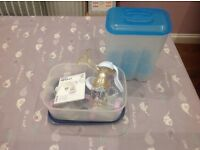 Philips avent manual breast pump and cold water steriliser