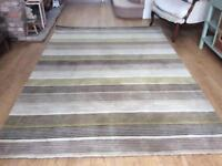 John Lewis large wool rug, multi stripe , new unused