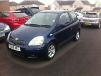 STUNNING 2005 55 TOYOTA YARIS FULL SERVICE HISTORY 1 OWNER LONG MOT PX WELCOME £995