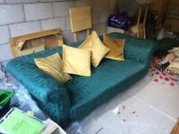 Genuine antique chesterfield restored to a high standard with matching footstool