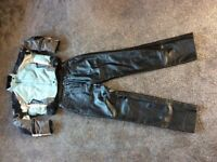Ladies Belstaff motorcycling jacket and leather trousers