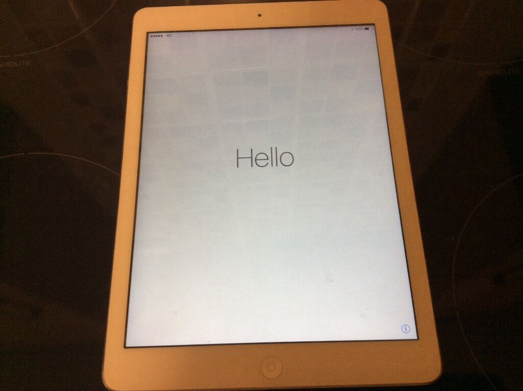 iPad Air 64gb open simin Wigston, LeicestershireGumtree - iPad Air 64gb sim open white and silver good working condition come with plug case not charger lead but I can show that it does charge £200 ovno