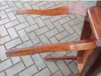 LOW WOODEN TABLE WITH LOVELY LEGS
