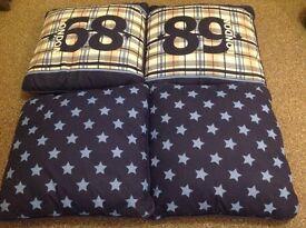 Boys Bedroom Cushions x 4