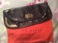 Black leather large Ted Baker clutch bag, like new , used once , Crosby pick up
