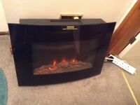 Flame effect remote control wall heater