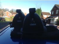 BMW 1 SERIES THULE ROOF BARS - EXCELLENT CONDITION USED TWICE