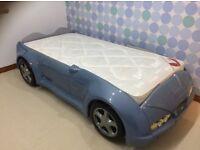Boys designer single car bed