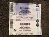 JUSTIN TIMBERLAKE TICKETS STANDING MANCHESTER