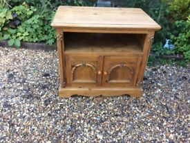 Pine TV Unit, in need of re-wax, £20.00 ono
