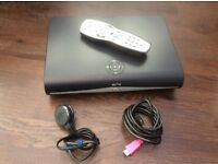 Sky+HD Satellite box, with remote, power cable & hdmi lead. With wifi.