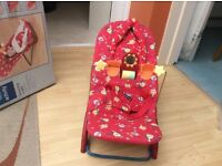 Mothercare newborn bouncing cradle excellent condition with head support