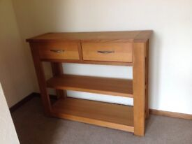 A Next Solid oak console table