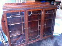 Large vintage mahogany sideboard/book case/display cabinet