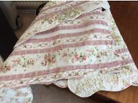 Double bedspread - Chabby chic - reversible with two pillowshams