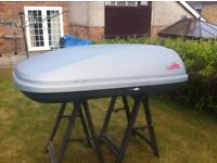 roof box large with all fittings plus two keys. if needed you can have the roof bars to