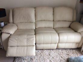 Beautiful 3 seater leather sofa
