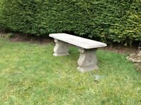 A lovely garden concrete bench £40.00