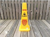 Wet Floor Signs - Commercial Multi Lingual Safety Cones Brand New in Original Box £10 each - only 4