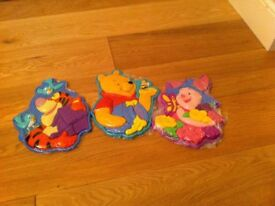Winnie the Pooh, Tigger and Piglet puzzles - sold as a set.