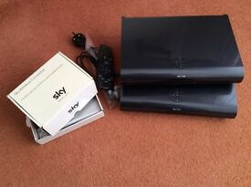 Sky+HD 2Tb set top box (two) plus wireless router (two)