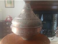 Vintage copper North African/ Moroccan base and lid.