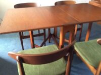 Jentique Teak Gateleg Table and 4 Chairs