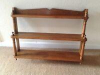 Vintage oak shelf unit