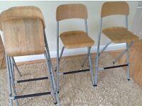 4 Ikea foldable bar stools