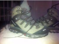 Solomon Walking Boots, size 10.