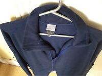 Original Brand New Nike Fleece Jacket. Full Zip - Size L Dark Blue