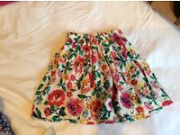 Girls aged 3 joules floral summer skirt, immaculate as never worn