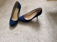Navy Suede Shoes