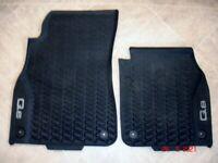 Audi Q8 All weather front floor car mats.